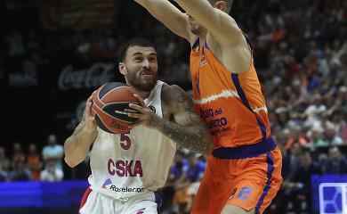 Valensijoje – aklina tamsa, Mike'o Jameso spindesys ir CSKA pergalė