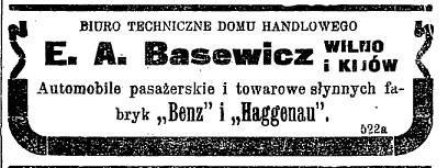 ETM iliustr./Automobilių ir motociklų reklamos Vilniaus spaudoje 1911 m.