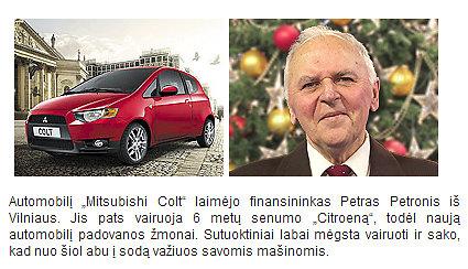 """Petras Petronis laimėjo """"Mitsubishi Colt"""""""