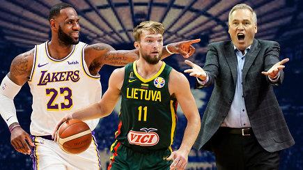 """""""Atsarginiai"""": istoriniai Lietuvai D.Sabonio skaičiai NBA ir teisėjų absurdai"""