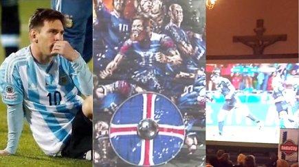 """""""Vieni vartai"""": Argentinos nuopuolis, istorinis šansas islandams ir futbolas bažnyčioje"""
