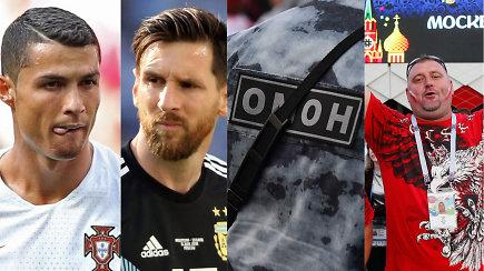 """""""Vieni vartai"""": C.Ronaldo rekordai, antras šansas L.Messiui ir lenkų muštynių vaizdai"""