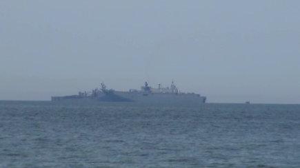 Baltijos jūroje ties Palanga – Ispanijos lėktuvnešis Juan Carlos I