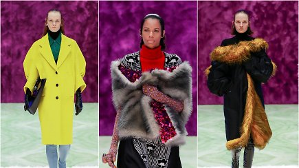 """Milano mados savaitėje """"Prada"""" pristatė naujausią moterims skirtą kolekciją"""