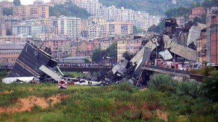 Tragedija Italijoje: sugriuvus viadukui žuvo mažiausiai 35 žmonės