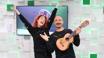 """15min studijoje – """"Eurovizijos"""" finalininkai J.Didžiulis ir E.Jennings"""