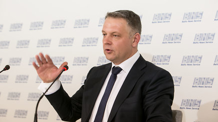 Eligijus Masiulis spaudos konferencijoje prabilo apie korupcijos bylą