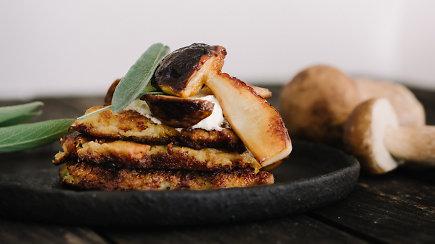 Lietuviškų skonių fiesta – bulvių ir kopūstų blynai su baravykais