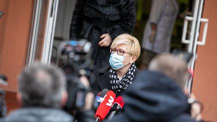 Premjerė I.Šimonytė susitiko su Vilniaus rajono mere ir lankėsi vakcinavimo centre