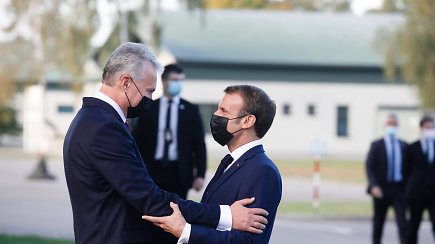 Prezidento G.Nausėdos komentaras po vizito Rukloje kartu su E.Macronu