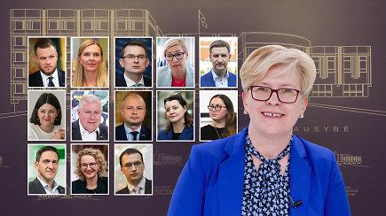 Suprasti akimirksniu: visi I.Šimonytės pasiūlyti kandidatai į ministrus