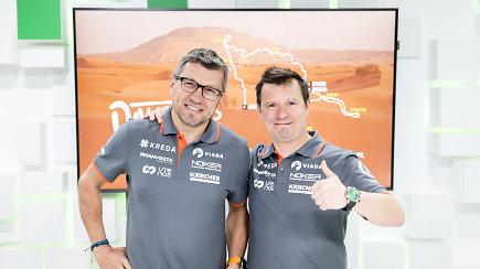 15min studijoje –20-as Dakare finišą kirtę Antanas Juknevičius ir Darius Vaičiulis