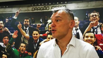 """Š.Jasikevičius iš Barselonos: apie žalgirietišką šventimą ir nukenksmintą """"Žalgirį"""""""
