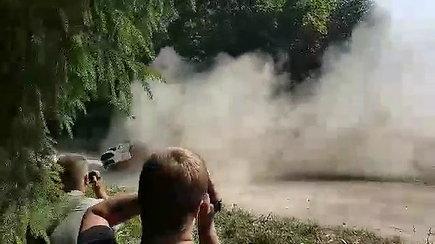 """Egidijaus  Valeišos ir Mindaugo Varžos avarija """"Rally Estonia"""""""