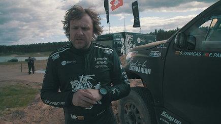 Benediktas Vanagas sėdo prie atnaujinto Dakaro bolido vairo