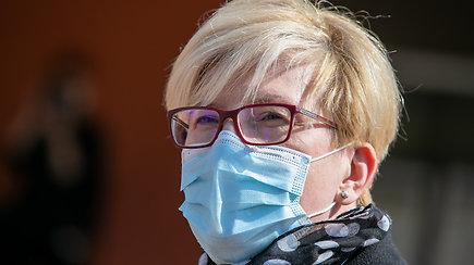 Premjerė I.Šimonytė lankėsi Visagino vakcinavimo centre