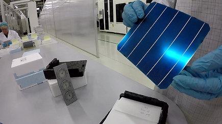 Apsilankymas vienoje iš moderniausių saulės modulių gamyklų