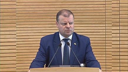 Saulius Skvernelis Seime aiškinosi dėl sunaikinto įrašo