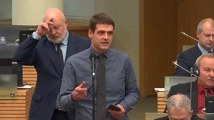 """R.Žemaitaitis prakalbo apie Seimo narių baimę dėl informacijos, atskleistos knygoje """"Kabinetas 339"""""""