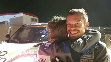 Po nelaimingo 12 GR V.Žala ir S.Jurgelėnas pagaliau pasiekė Dakaro finišą