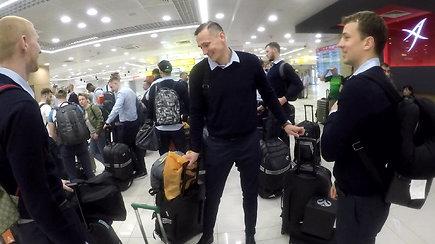 """Belgrado oro uoste """"Žalgirio"""" komanda užsiregistravo skrydžiui į Kauną"""