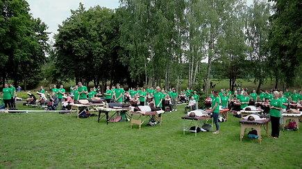 Masinį masažą Birštone atliko 176 dalyviai!