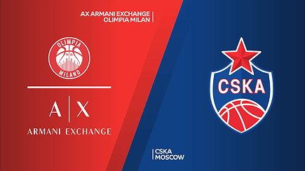 Eurolygos rungtynių apžvalga: Milano Olimpia - Maskvos CSKA
