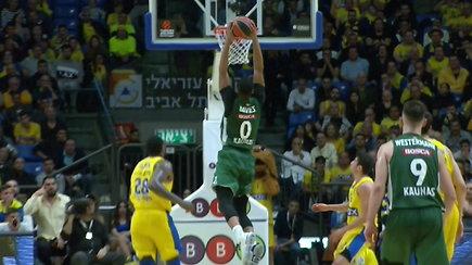 """Pamatykite: """"Žalgiriui"""" gyvybę Eurolygoje išsaugojusi dramatiška pergalė prieš """"Maccabi"""""""