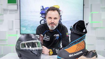 15min studijoje – ledo iššūkį Jakutijoje motociklu įveikęs Karolis Mieliauskas