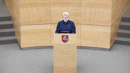 """Dalia Grybauskaitė metiniame pranešime: """"Su valstybe iš esmės viskas gerai"""""""