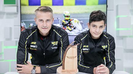 """Kajus Šikšnelis Pasaulio kartingų čempionate lenktyniavo su """"Formulės 1"""" žvaigždžių vaikais"""