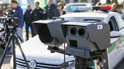 """Policija pristatė naujos kartos mobilius lazerinius greičio matuoklius """"PoliScan FM1"""""""