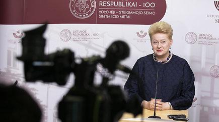D.Grybauskaitė po G.Nausėdos pranešimo: Norėčiau palinkėti jam stiprybės