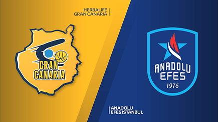 Eurolygos rungtynių apžvalga: Las Palmaso Gran Canaria - Stambulo Anadolu Efes