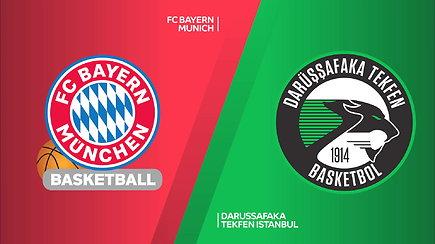Eurolygos rungtynių apžvalga: Miuncheno Bayern - Stambulo Darussafaka