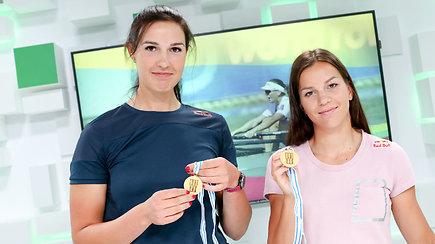 """Pasaulio čempionės – unikalus duetas: """"Visi stebisi, kaip mes galime kartu irkluoti"""""""