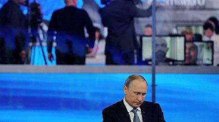 Tradicinis V.Putino šou: apie karą Sirijoje