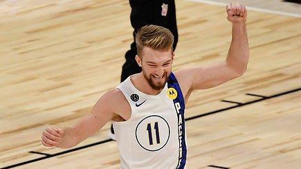 """D.Sabonio komentarai po NBA """"All-Star 2020"""" – nugalėjo čempioną ir vos nelaimėjo konkurso"""