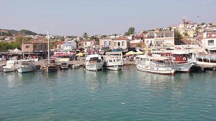 Pasiplaukiojimas Aivaliko miestelyje Turkijoje