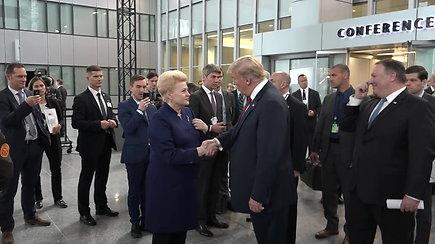 D.Grybauskaitei – JAV prezidento D.Trumpo ir Prancūzijos vadovo E.Macrono komplimentai