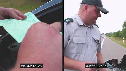 Spręskite patys: policija pademonstravo, kiek truks patikrinimas, jeigu nesivežiosite transporto priemonės dokumentų