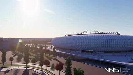 Parodė, kaip turėtų atrodyti Nacionalinis stadionas