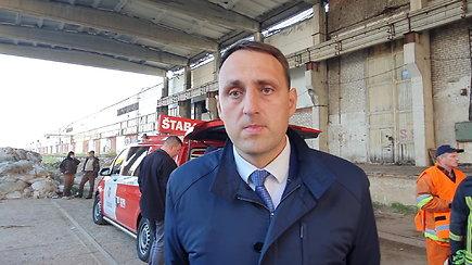 Alytaus meras N.Cesiulis: apie gyventojų evakuaciją ir beveik parą gesinamą gaisrą