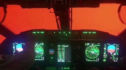 Lakūnai pasidalijo vaizdo įrašu: skrydis Australijoje – lyg pragare