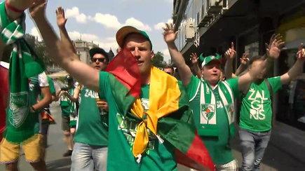 """Prieš kovą su CSKA – """"Žalgirio"""" sirgalių šėlsmas"""