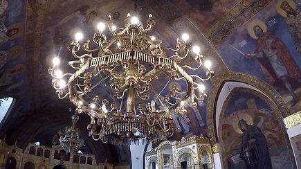 Viena įdomiausių šventovių pasaulyje: Ružicos cerkvės Belgrade šviestuvai – iš kulkų