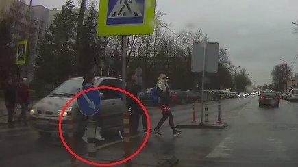 Incidentas pėsčiųjų perėjoje Panevėžyje