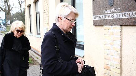 Neringa Venckienė pasirodė Panevėžio apygardos teisme