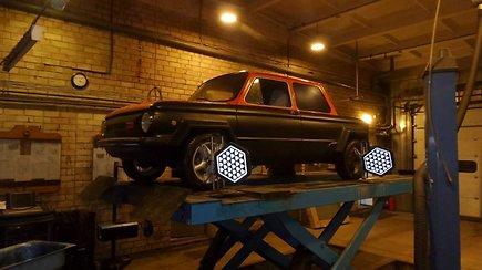 """Pirmasis ZAZ su """"Audi"""" varikliu užvedimas ir bandomasis važiavimas"""