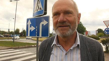 Vairavimo ekspertas V.Šakėnas įvertino naujojo ženklinimo spragas ir vairuotojų įpročius Panevėžyje